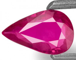 Mozambique Ruby, 0.44 Carats, Pinkish Red Pear