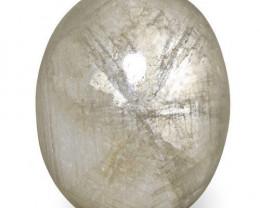 Burma Trapiche Sapphire, 11.73 Carats, Bluish Greyish White Oval