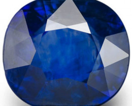 AIGS Certified Madagascar Blue Sapphire, 2.60 Carats, Intense Royal Blue