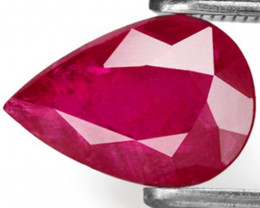 AIGS Certified Mozambique Ruby, 2.07 Carats, Intense Red Pear