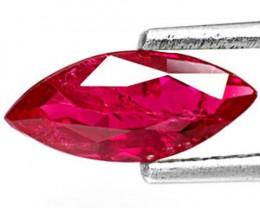IGI Certified Burma Ruby, 0.95 Carats, Deep Purplish Red Marquise