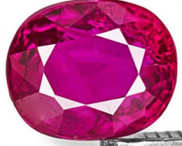 IGI Certified Mozambique Fancy Sapphire, 1.12 Carats, Pinkish Purple Oval