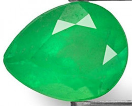 Colombia Emerald, 1.50 Carats, Grass Green Pear