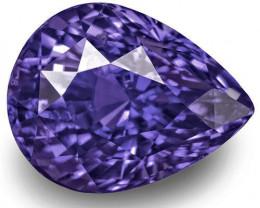 GIA Certified Sri Lanka Blue Sapphire, 8.71 Carats, Lustrous Violetish Blue