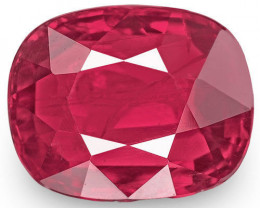 Mozambique Ruby, 1.00 Carats, Blood Red Cushion