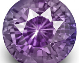 GIA Certified Sri Lanka Fancy Sapphire, 4.51 Carats, Lavender Round