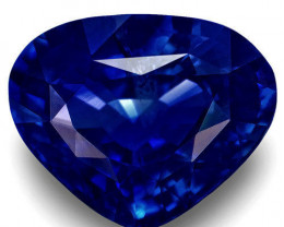 GIA Certified Madagascar Blue Sapphire, 4.01 Carats, Pear