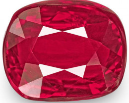 Mozambique Ruby, 0.99 Carats, Red Cushion