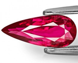 GRS Certified Mozambique Ruby, 2.01 Carats, Vivid Red Pear