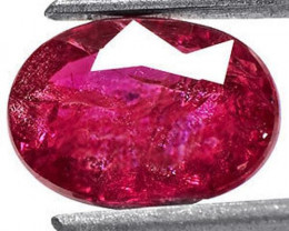 Mozambique Ruby, 1.50 Carats, Purplish Red Oval