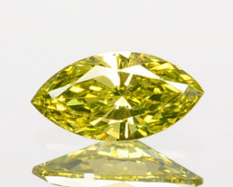 0.09 Cts Natural Golden Yellow Diamond Marquise Cut Africa