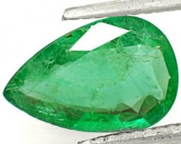 Zambia Emerald, 1.89 Carats, Intense Green Pear