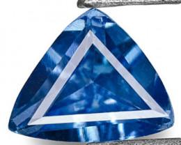 Madagascar Blue Sapphire, 0.26 Carats, Velvety Blue Trilliant