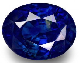GRS Certified Sri Lanka Blue Sapphire, 1.87 Carats, Dark Blue Oval