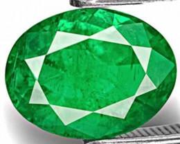 Zambia Emerald, 2.71 Carats, Rich Velvet Green Oval