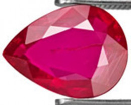 Mozambique Ruby, 2.24 Carats, Dark Pinkish Red Pear