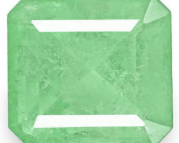 Colombia Emerald, 4.21 Carats, Lustrous Bluish Green Emerald Cut