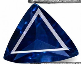 Madagascar Blue Sapphire, 0.28 Carats, Velvety Kashmir Blue Trilliant