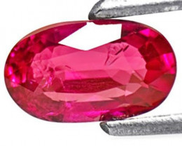 Burma Ruby, 0.85 Carats, Intense Red Oval