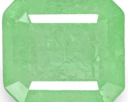 Colombia Emerald, 4.73 Carats, Bluish Green Emerald Cut