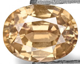 IGI Certified Sri Lanka Yellow Sapphire, 0.85 Carats, Brownish Yellow Oval