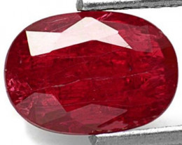 Mozambique Ruby, 2.02 Carats, Purplish Red Oval