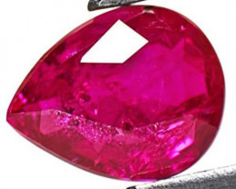 Burma Ruby, 1.24 Carats, Magenta Red Pear