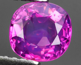 CERTIFIED 1.26 CTS UNHEATED VIVID PINK AWESOME BURMA PINK SAPPHIRE FACETED