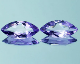 4.97 Ct Natural Purple Amethyst Matching Pair Marquise