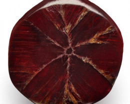 Burma Trapiche Ruby, 1.07 Carats, Pigeon Blood Red Hexagonal