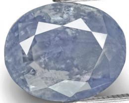 GIA & IGI Certified Kashmir Blue Sapphire, 4.49 Carats, Pastel Blue Oval