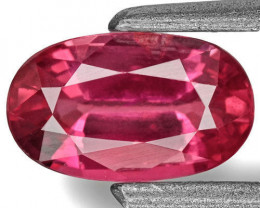 IGI Certified Burma Ruby, 0.66 Carats, Neon Pinkish Red Oval