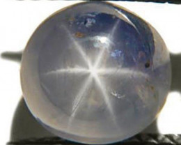 Burma Blue Star Sapphire, 3.41 Carats, Light Blue Round
