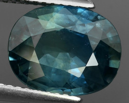 CERTIFIED 4.35 CTS NATURAL HEATED BEAUTIFUL BLUE THAILAND SAPPHIRE