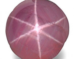 Sri Lanka Fancy Star Sapphire, 2.08 Carats, Light Pink Round