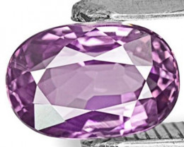 AIGS Certified Madagascar Fancy Sapphire, 0.99 Carats, Soft Violet Oval