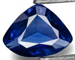 Madagascar Blue Sapphire, 0.27 Carats, Royal Blue Trilliant