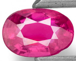 Mozambique Ruby, 0.43 Carats, Bright Pink Red Oval