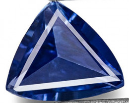 Madagascar Blue Sapphire, 0.21 Carats, Deep Cornflower Blue Trilliant