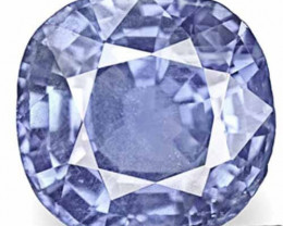 IGI Certified Burma Blue Sapphire, 3.07 Carats, Vivid Intense Blue Cushion