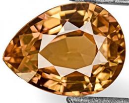 IGI Certified Sri Lanka Padparadscha Sapphire, 0.85 Carats, Intense Orange