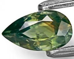 IGI Certified Australia Yellow Sapphire, 1.03 Carats, Vivid Yellow Green