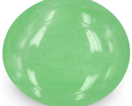 Colombia Emerald, 21.97 Carats, Pastel Green Oval
