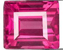 Mozambique Ruby, 0.37 Carats, Vivid Pinkish Red Square