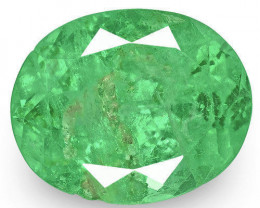 Colombia Emerald, 3.20 Carats, Lively Green Oval