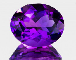 11x9 mm Oval 3.27cts Purple Amethyst [VVS]