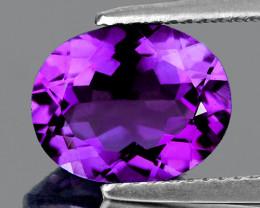 11x9 mm Oval 2.57cts Purple Amethyst [VVS]