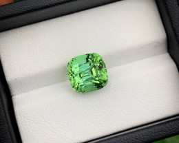 5.10 Carats Natural Top Quality Apple Green Tourmaline From Jaba Mine Afgha