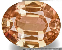 IGI Certified Sri Lanka Padparadscha Sapphire, 0.65 Carats, Soft Orange