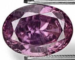 AIGS Certified Madagascar Fancy Sapphire, 4.74 Carats, Intense Purple Oval